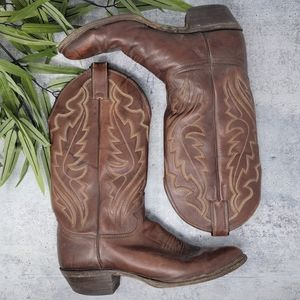 Justin Boots | Brown Leather Cowboy Western Boots